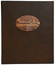 Padded Leather Wine Cover With Copper Tip-in Logo