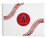 Custom cover with 4 color tip-in logo and hand stitch baseball seams.