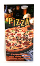 pizza menu hanger printed one color onto stock pizza card. Menus are laminated for protection.