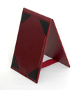 4 x 6 burgundy wine table tent holder. Can be made any color and any size.