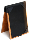 two panel wood table tent holder. Custom made to fit any size insert.