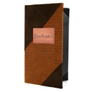 Two-tone Suede Cover with Copper Tip-in logo